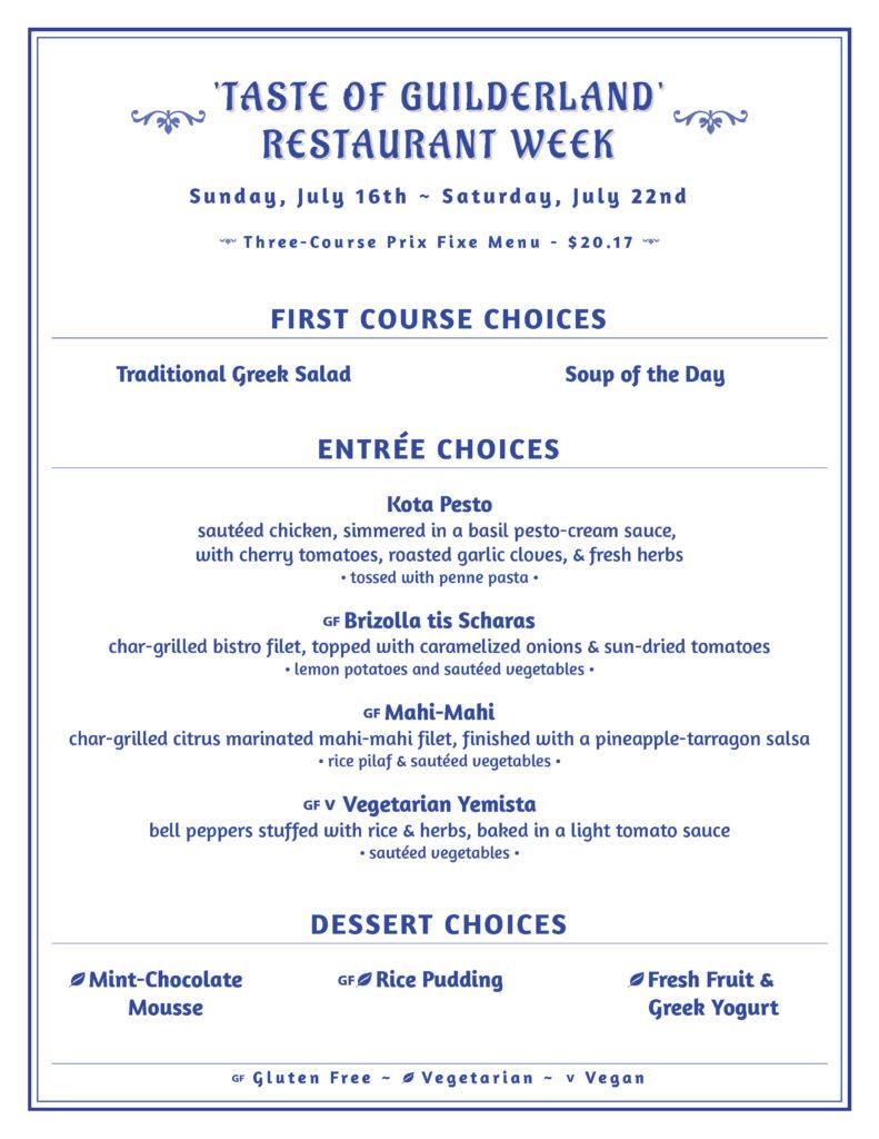 Colonie Chamber Restaurant Week